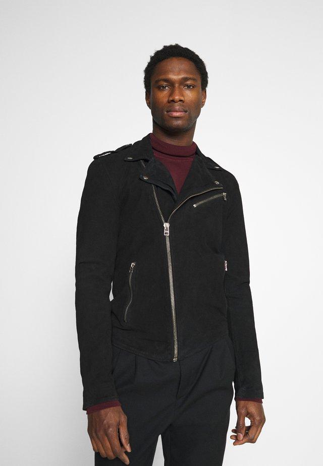 ALEXANDER BIKER - Veste en cuir - black