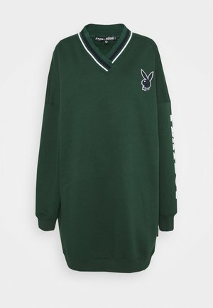PLAYBOY VARSITY V NECK SWEATER DRESS - Day dress - green