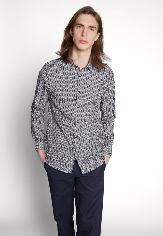 BUSH AZTEC GEO - Shirt - navy