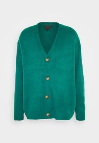Mennace - FLUFFY CARDIGAN - Cardigan - teal