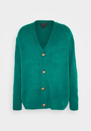 FLUFFY CARDIGAN - Vest - teal