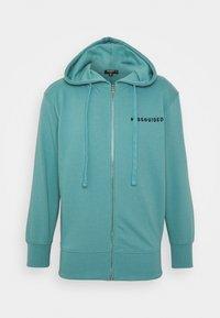 Missguided Petite - HOODIE AND JOGGER SET - Zip-up sweatshirt - blue - 2