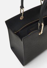 DKNY - VIVIAN DOUBLE FLAP SHOULDER - Handbag - black/gold-coloured - 2