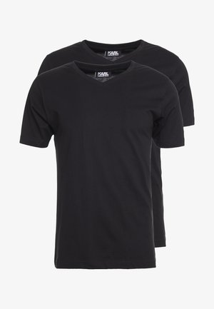 DUO 2 PACK - Basic T-shirt - black