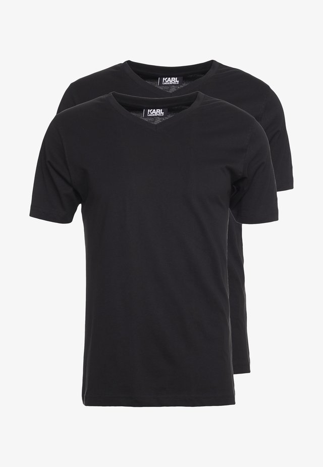 DUO 2 PACK - T-shirts - black