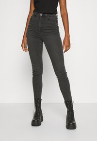 Noisy May - NMAGNES SLIT - Jeans Skinny Fit - medium grey denim - 0