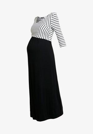 MILENNA - Vestido largo - black/white