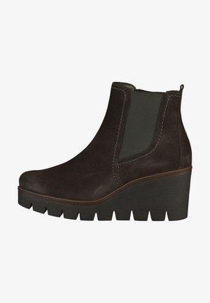 Platform ankle boots - pepper