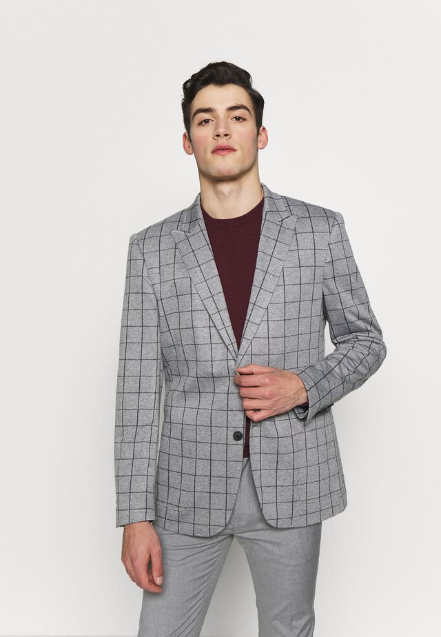 ONSELIAS GRID CASUAL - Suit jacket - light grey melange