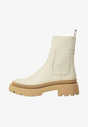 Boots à talons - cremeweiß