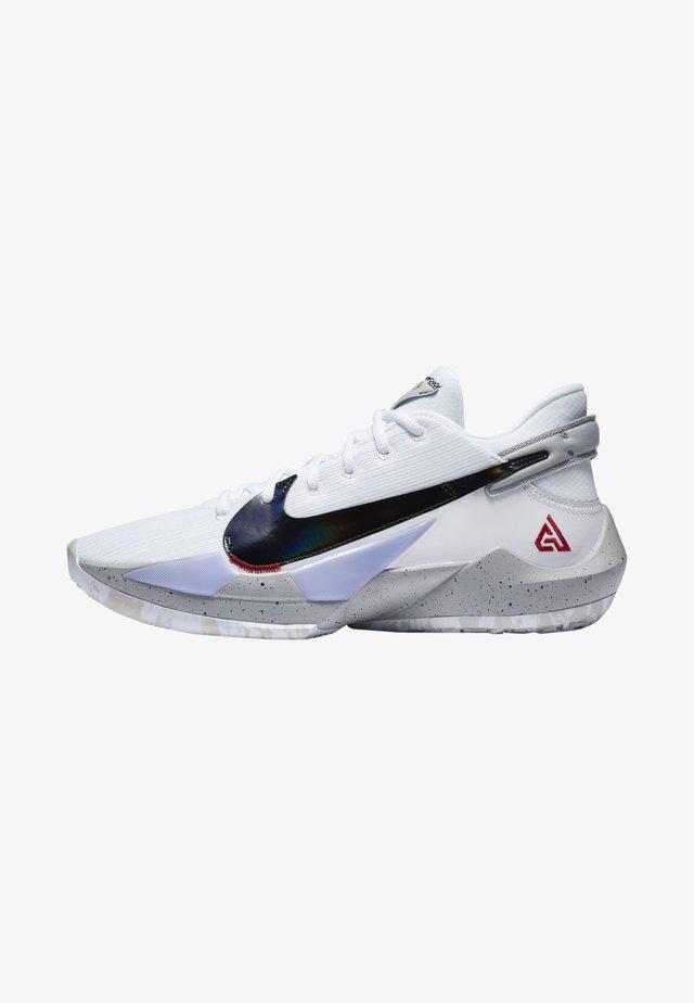 ZOOM FREAK  - Basketball shoes - white/university red/grey fog/white