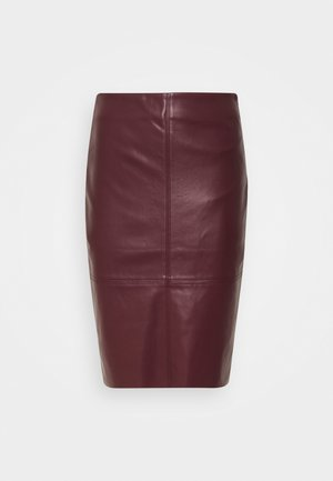 SKIRT PENCIL - Pencil skirt - plum