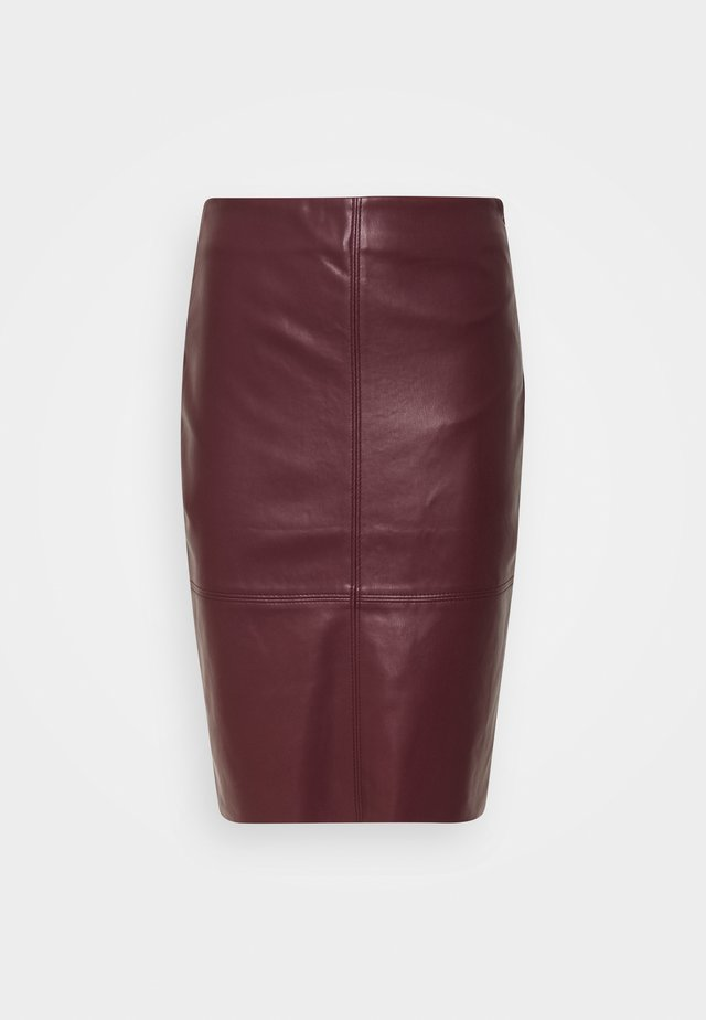SKIRT PENCIL - Pennkjol - plum