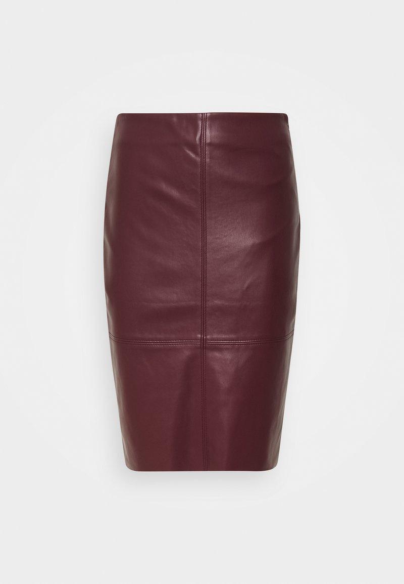 Esqualo - SKIRT PENCIL - Pencil skirt - plum