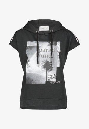 Print T-shirt - schwarz/grau