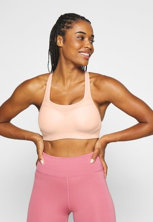 ALPHA BRA NOVELTY - High support sports bra - washed coral/white