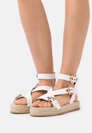 WIDE FIT KOENA - Platform sandals - white