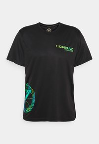 Carlo Colucci - MIT IRISIERENDEM PRINT UNISEX - Print T-shirt - black - 0