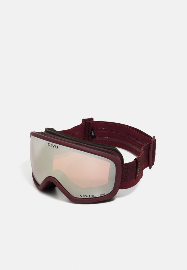 RINGO - Masque de ski - ox red loop/vivid onyx