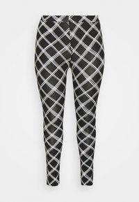 Simply Be - CHECK - Leggings - Trousers - black - 3