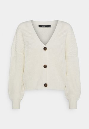 VMLEA V NECK CARDIGAN  - Cardigan - birch