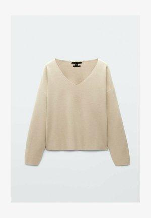 IM CROPPED SCHNITT  - Sweter - beige