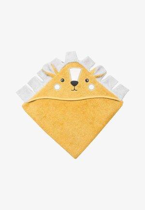 LION FIGURED - Bath towel - mustard yellow