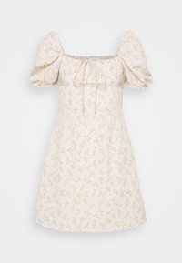 Glamorous - CARE MINI DRESSES WITH PUFF SHORT SLEEVES - Robe d'été - stone - 4