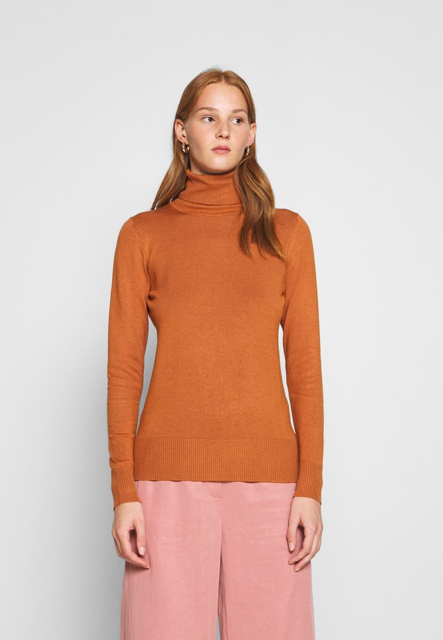 MILA ROLLNECK - Jumper - adobe