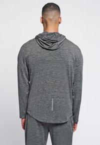 Hummel - ASTON - Zip-up sweatshirt - dark grey melange - 2