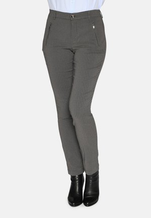 Chinos - blue/brown check