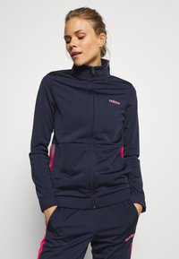 adidas Performance - PLAIN TRIC SET - Tracksuit - legend ink - 0