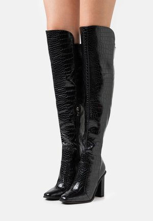 WIDE FIT CYNTHIA - Over-the-knee boots - black