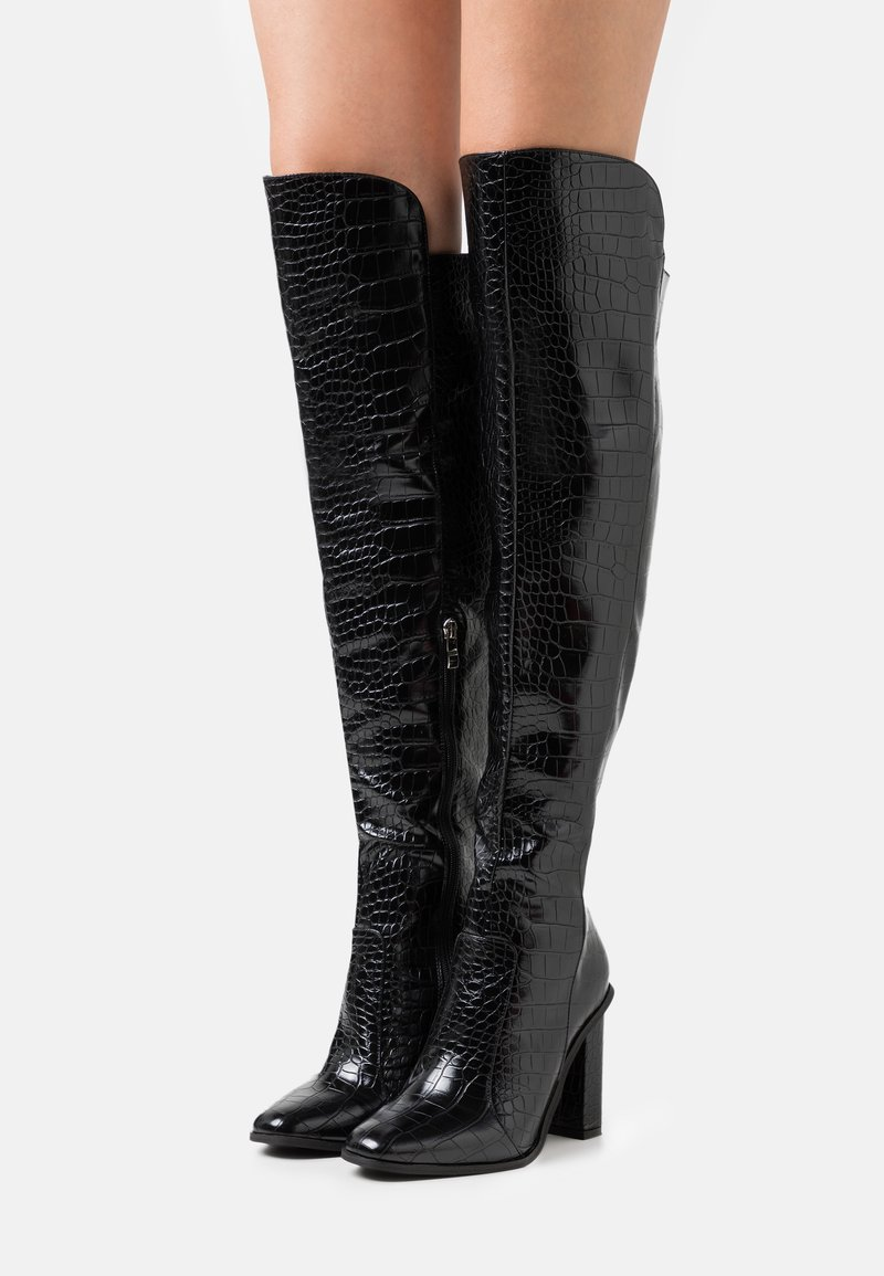 RAID Wide Fit - WIDE FIT CYNTHIA - Over-the-knee boots - black