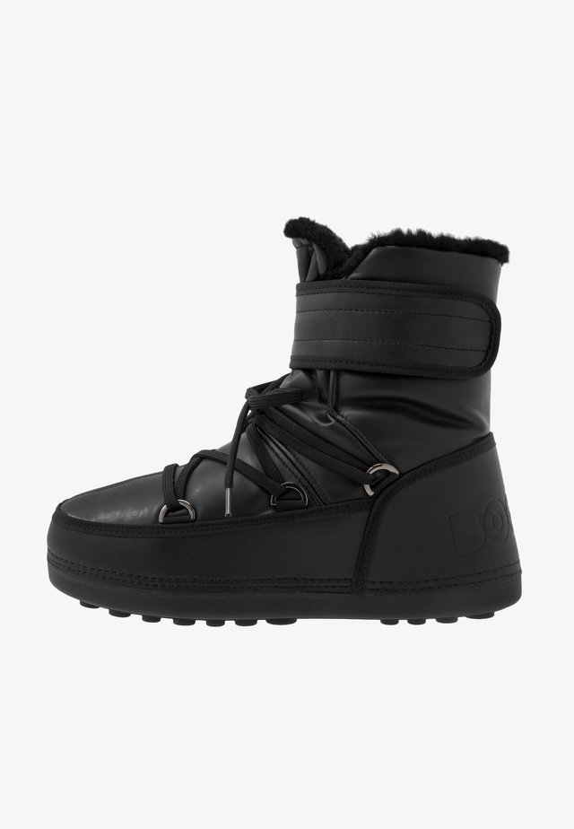 DAVOS - Lace-up ankle boots - black