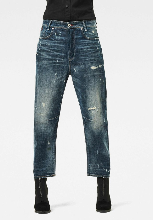 C-STAQ 3D BOYFRIEND CROP - Jeans baggy - antic faded tarnish blue destroyed