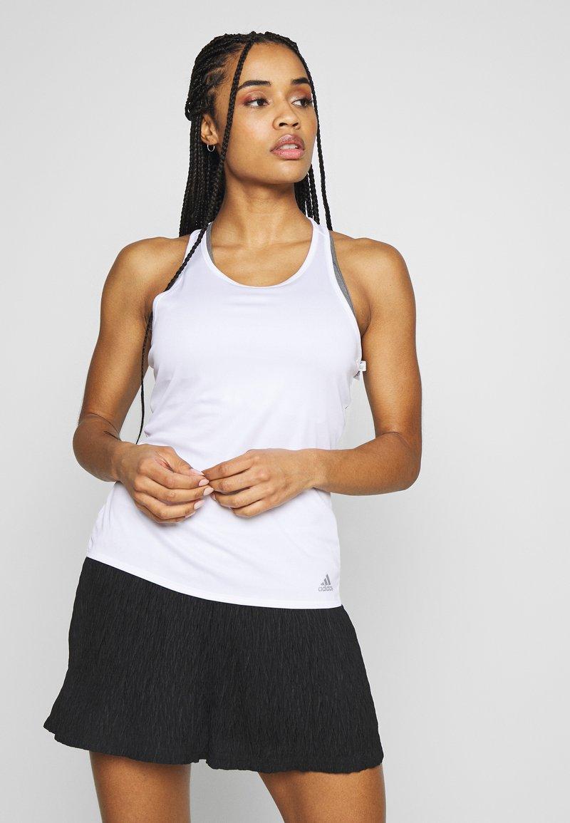 adidas Performance - CLUB TANK - Camiseta de deporte - white/silver/black