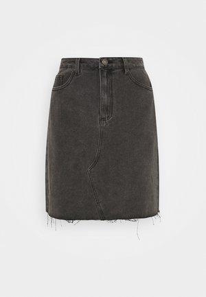VICANIANA SKIRT - Miniskjørt - dark grey denim