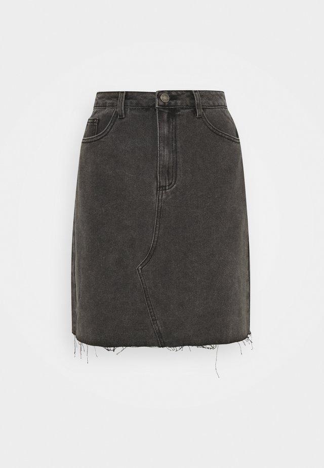 VICANIANA SKIRT - Minisukně - dark grey denim