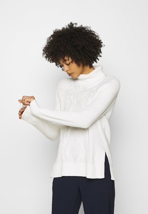 CABLE TURTLENECK - Strickpullover - snowflake milk