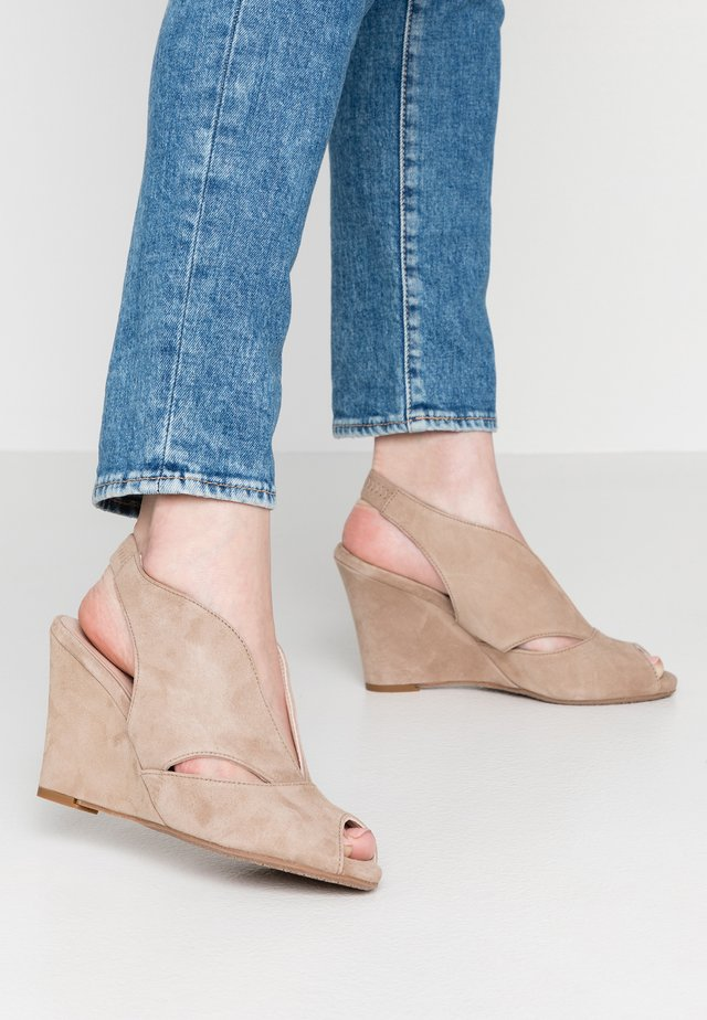 ALEXA - Peeptoe heels - taupe