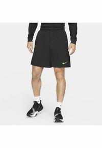 Nike Performance - FLEX SHORT - Träningsshorts - black mean green - 3