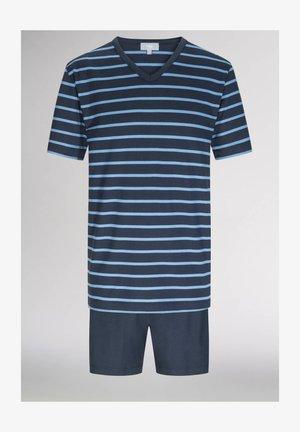 SCHLAFANZUG KURZ - Pyjamas - yacht blue