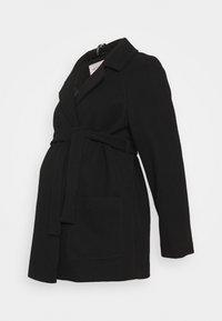 Dorothy Perkins Maternity - SHORT BELTED WRAP COAT - Winter jacket - black - 0
