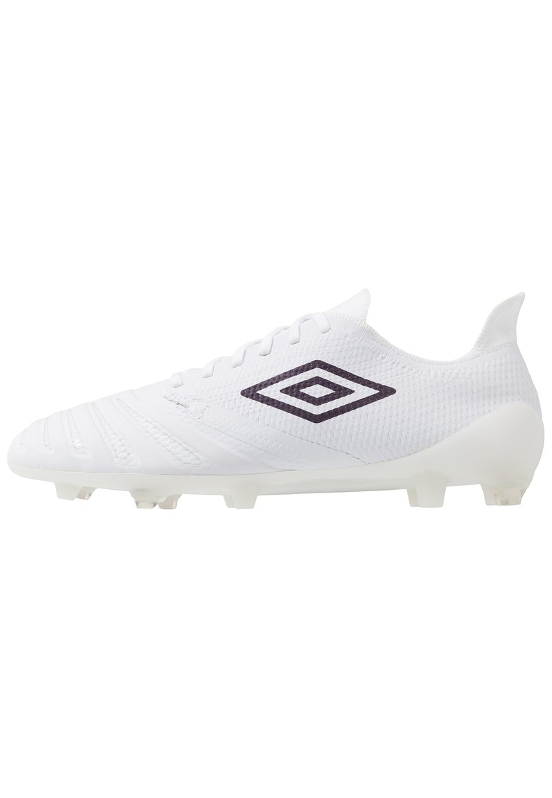 Umbro - UX ACCURO III PRO FG - Moulded stud football boots - white/plum