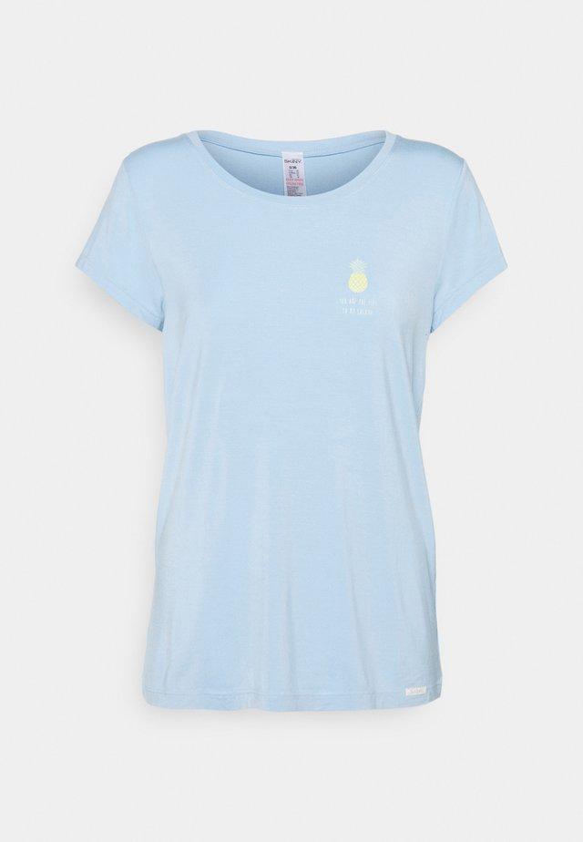 KURZARM FESTIVAL VIBE SLEEP - Pyjamashirt - sky blue