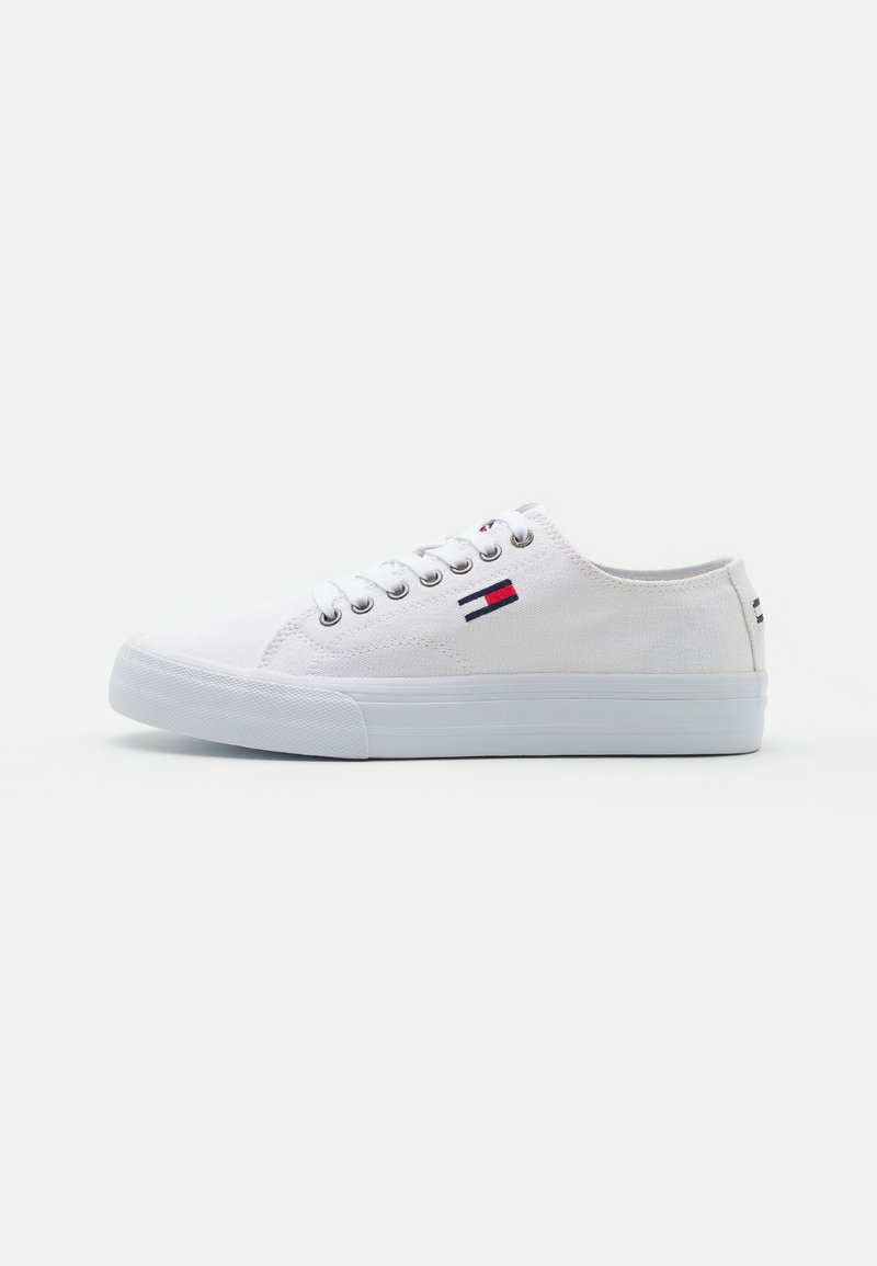 Tommy Jeans - LONG LACE UP - Matalavartiset tennarit - white