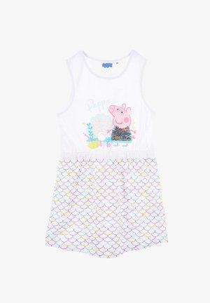PAILLETTEN PEPPA PIG - Day dress - weiß