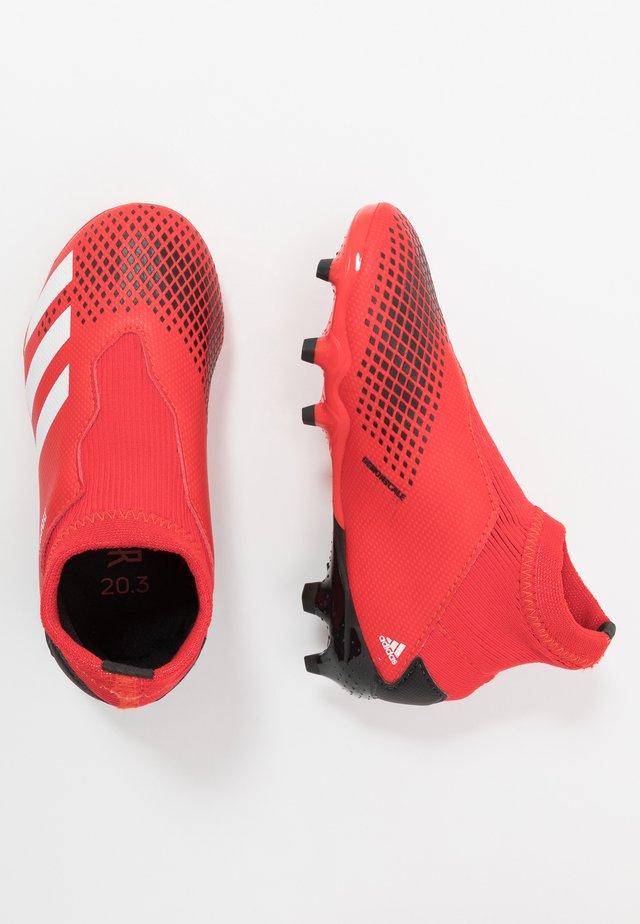 PREDATOR 20.3 LL FG - Fußballschuh Nocken - active red/footwear white/core black