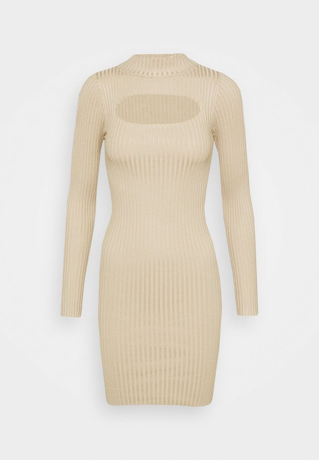 EUPHORIA MINI DRESS - Jumper dress - stone
